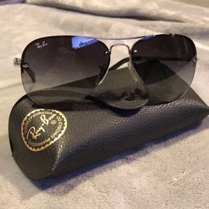 Ray Ban aviator gradient sunglasses